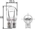 P21/5W 12V žárovka, hlavní světlomet, výrobce HELLA