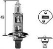 H1 55W 12V žárovka, hlavní světlomet, výrobce HELLA