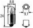2W 24V žárovka, parkovací / polohové, výrobce HELLA
