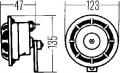 3AF 003 399-181 houkačka, výrobce HELLA