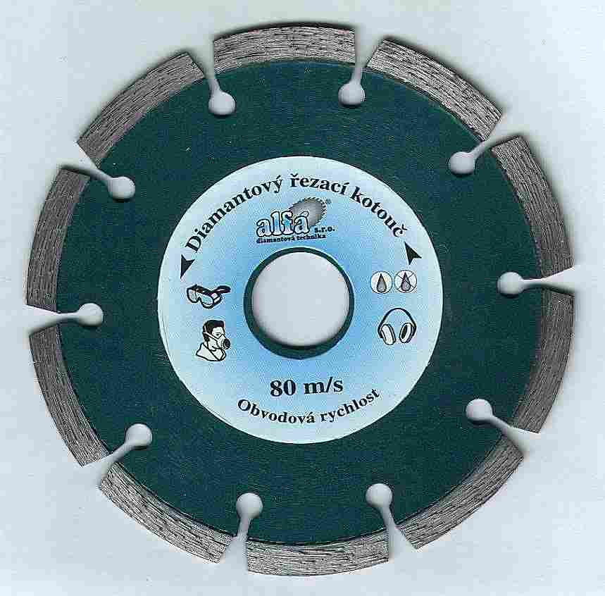 řezný diamantový kotouč 230 mm, ABRAZIV - silně abrazivní materiály, ALFA