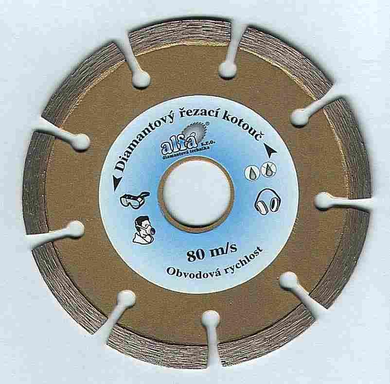 řezný diamantový kotouč 115 mm, EXPERT - cihly, šamot, pískovec, ALFA