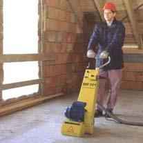 BEF 201 fréza na podlahy, betony 230 V s WK lamelami, Schwamborn
