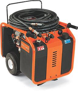 HP 40 hydraulický agregát HUSQVARNA s benzinovým motorem