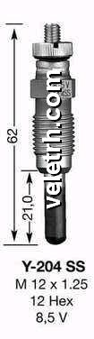 Y204TS-1 žhavící svíčka NGK